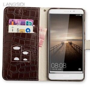 Image 3 - Wangcangli marque coque de téléphone Crocodile tabby pli déduction téléphone étui pour huawei G9 paquet de téléphone portable fait à la main personnalisé