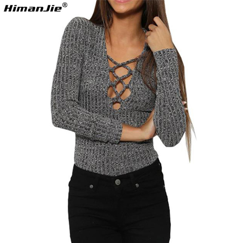 Himanjie hollow sexy long sleeve slit open women blouse for Long sleeve open shirt