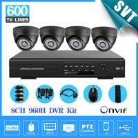 8 Channel IR Weatherproof Surveillance CCTV Camera Kit Home Security Wifi DVR Video Recorder System 8ch