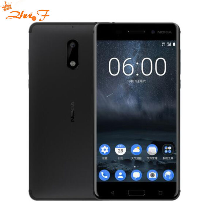Nokia 6new Original Nokia 6 LTE 4G Mobile Phone Android 7 Qualcomm Octa Core 5.5'' Fingerprint 4G RAM 32gb 64gb ROM 16MP