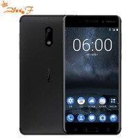 Nokia 6new оригинальный Nokia 6 LTE 4 г мобильного телефона Android 7 Qualcomm Octa Core 5,5 ''отпечатков пальцев 4 г оперативная память 32 ГБ 64 ГБ Встроенная память 16MP