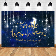 NeoBack Twinkle Twinkle Little Star Backdrop Shinning Star and Moon Space Birthday Baby Shower Photography Background
