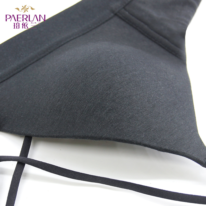 PAERLAN Small Breasts Wire Free Thin Push Up Cross Bras Push Up Glossy Se amless Sexy Women's Underwear  Back Closure 3/4 Cup