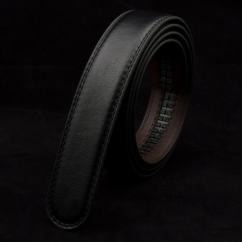 New Men's Leather Business   Belt   No Buckle High Quality 120cm Double Layer Leather   Belt   Automatic Buckle   Belt   #921