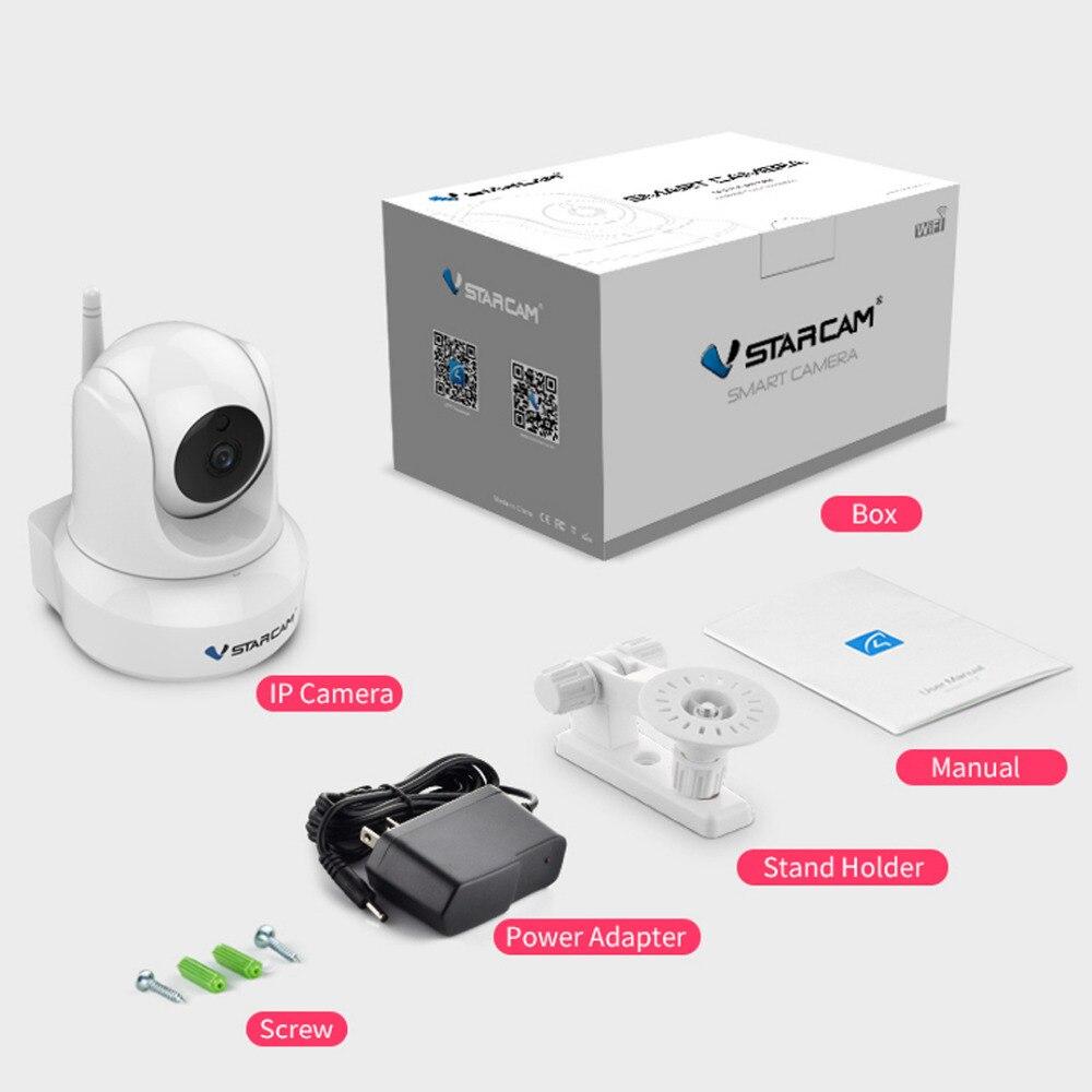 Vstarcam intérieure HD WiFi Surveillance vidéo Surveillance de sécurité caméra IP sans fil avec Audio bidirectionnel IR Vision nocturne panoramique inclinaison - 6
