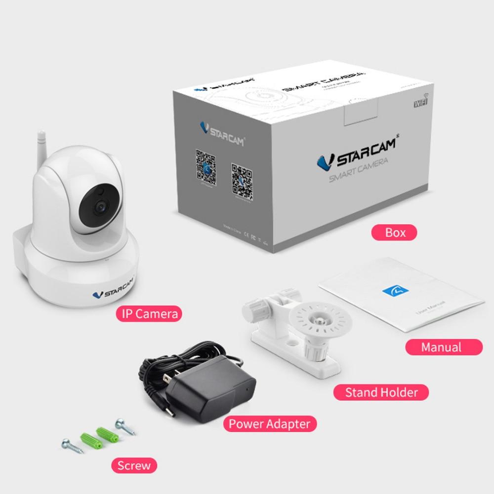 Vstarcam interior WiFi HD Video de vigilancia de la seguridad de la cámara IP inalámbrica con Audio de dos vías de la visión nocturna IR Pan Tilt - 6
