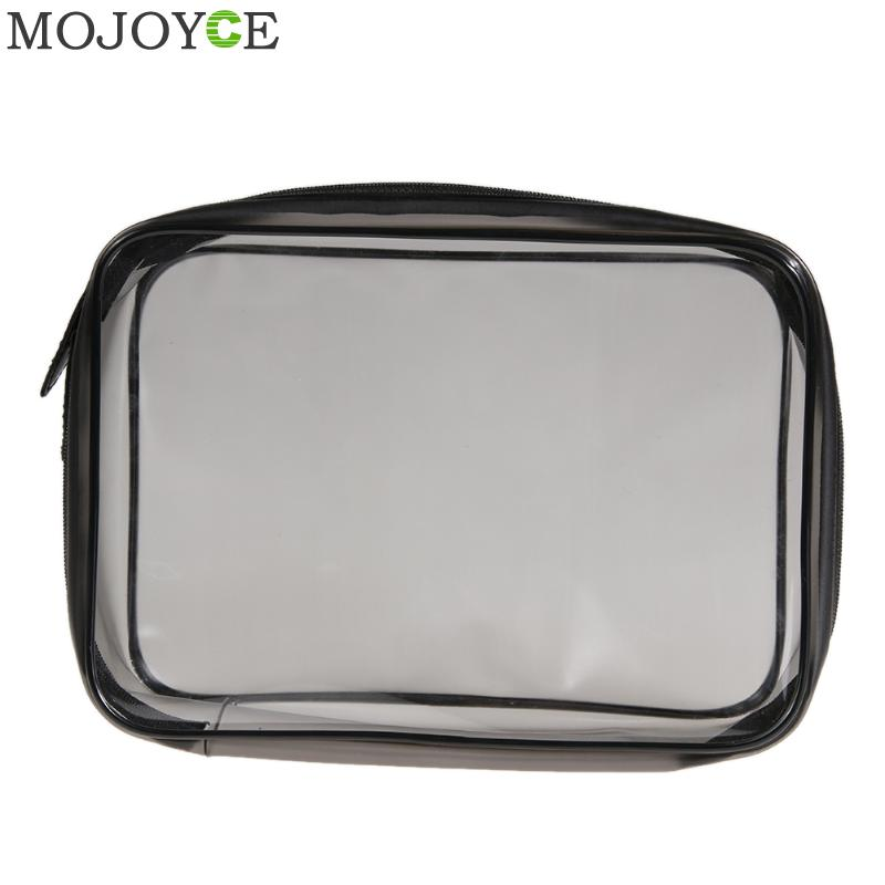 PVC Transparent Plastic Makeup Bag Travel Zipper Organizer Cosmetic Bag Travel Waterproof Clear Make Up Bags Women Toiletry Bags custom transparent clear pvc make up tote bag with double handles