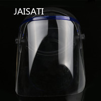 JAISATI Full Transparent Plexiglass Protective Full Face Mask Windproof Anti Splash Anti Impact Masks