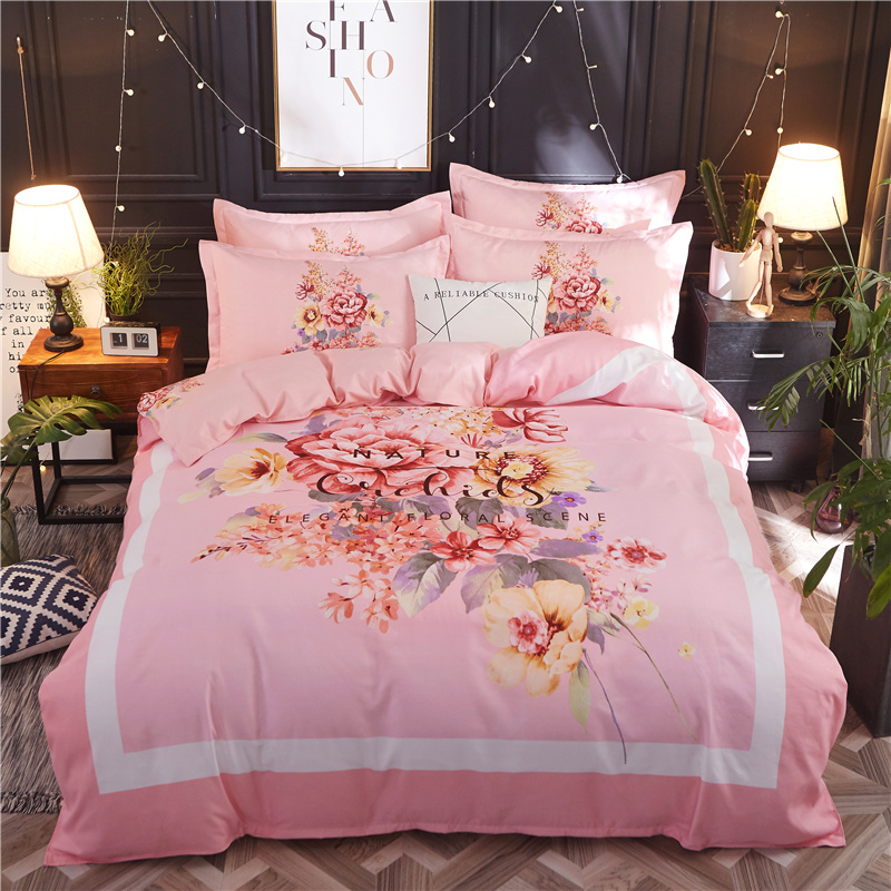 Classical style Printed Bedding set Soft personal Comfortable Duvet Cover Bed Sheet Pillowcases Twin Full Queen size 4PcsClassical style Printed Bedding set Soft personal Comfortable Duvet Cover Bed Sheet Pillowcases Twin Full Queen size 4Pcs