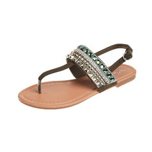 flats Slippers Women shoes Summer Sandals women Outdoor Flip-flops Beach Shoes Bling Rhinestones