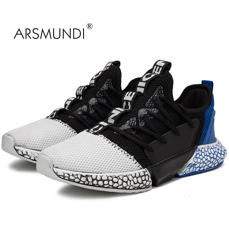 ARSMUNDI Men Running Shoes New Simple Sneakers For Men Running Shoes Summer Breathable Mesh Sneakers Outdoor Sport Light F001
