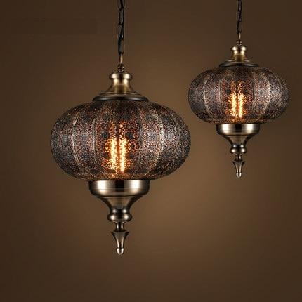 Loft Stile Hollow Ferro Droplight Industrial Vintage LED Lampade a Sospensione Sala da pranzo Lampada A Sospensione Decorazione di Illuminazione Interna