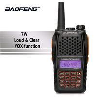 Baofeng UV 6R Orange Keyboard Walkie Talkie UHF VHF Dual Band UV 6R Walky Talky FM 128CH VOX Ham Radio UV6R For Hunting Radio