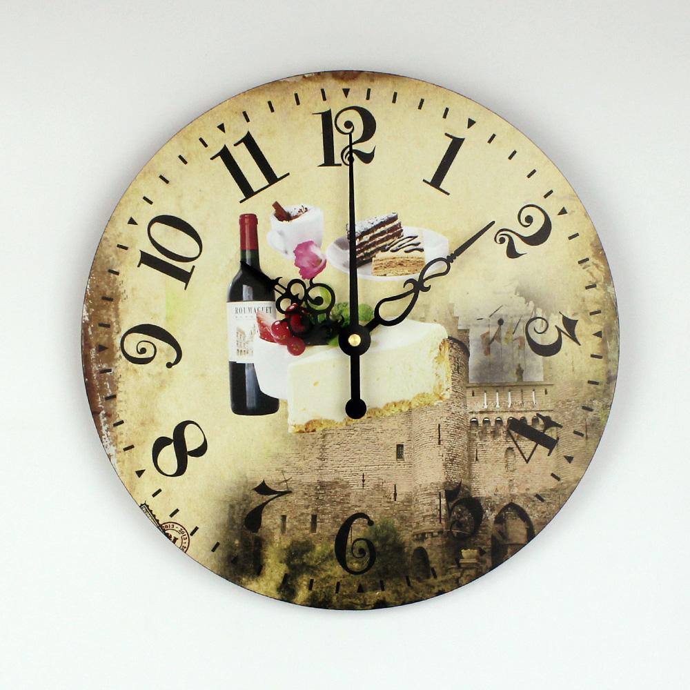 Kitchen Wall Decor Watch With Waterproof Clock Face Modern Dining ...