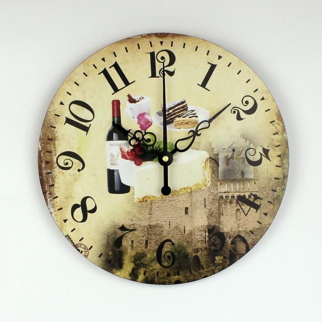 Reloj de pared de la cocina decoraci n con impermeable reloj silencioso moderno comedor dise o - Reloj de pared para cocina ...