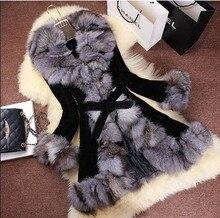 Free shipping  new pigskin leather with genuine real  fox fur collar jacket women fashion fur coat women outwear
