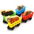 x007 4pcs Thomas removable magnetic wooden train lions zebra animal elephant seals compartment with magnetic puzzle toys