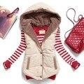 2015 новых капюшоном пальто женщина жилетки толстые теплые шерстяные лайнер жилеты из женщины лоскутное искусственная кожа женщин елочка жилет