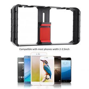 Image 5 - Ulanzi Smartphone Video Rig 3 Hot Shoe Mounts Filmmaken Case Stabilizer Frame Stand Telefoon Houder Voor Samsung Iphone Huawei