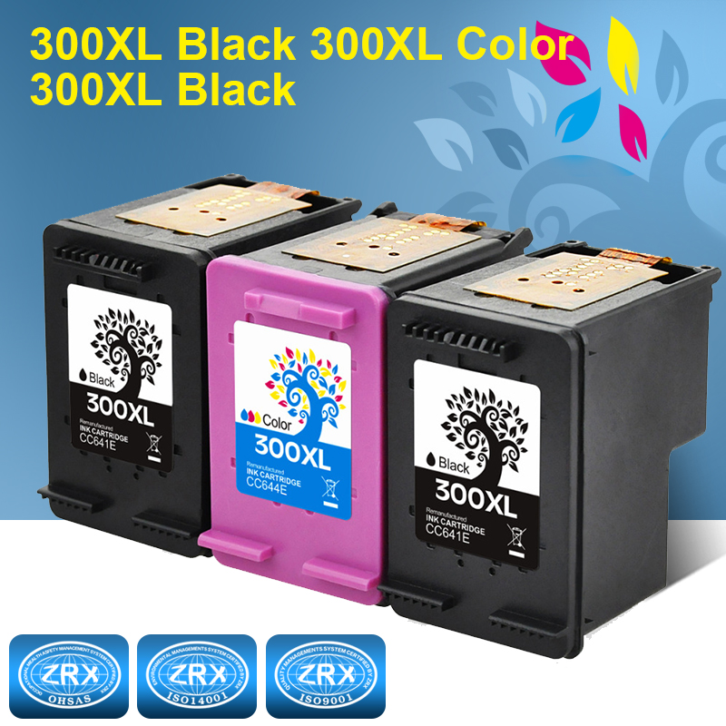 3pcs Ink Cartridge for HP 300XL HP300XL CC641EE CC644EE for HP Deskjet 2560 2660 5560 F2480
