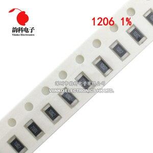 200pcs 1% 1206 SMD resistor 0R ~ 10M 1/4W 0 0.1 1 10 100 150 220 330 ohm 1K 2.2K 10K 100K 0R 1R 10R 100R 150R 220R 330R 1M 10M