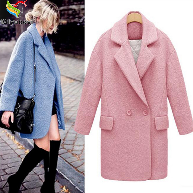 Coat Long Blue Promotion-Shop for Promotional Coat Long Blue on ...
