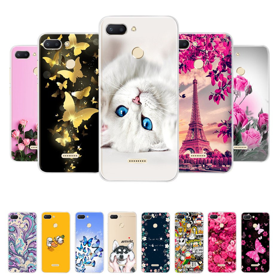 for Xiaomi Redmi 6 Case Redmi 6 Case Cover Soft Silicone Pattern Back Cover on for Coque Redmi6 Xiaomi Redmi 6 Phone Case Bumper(China)