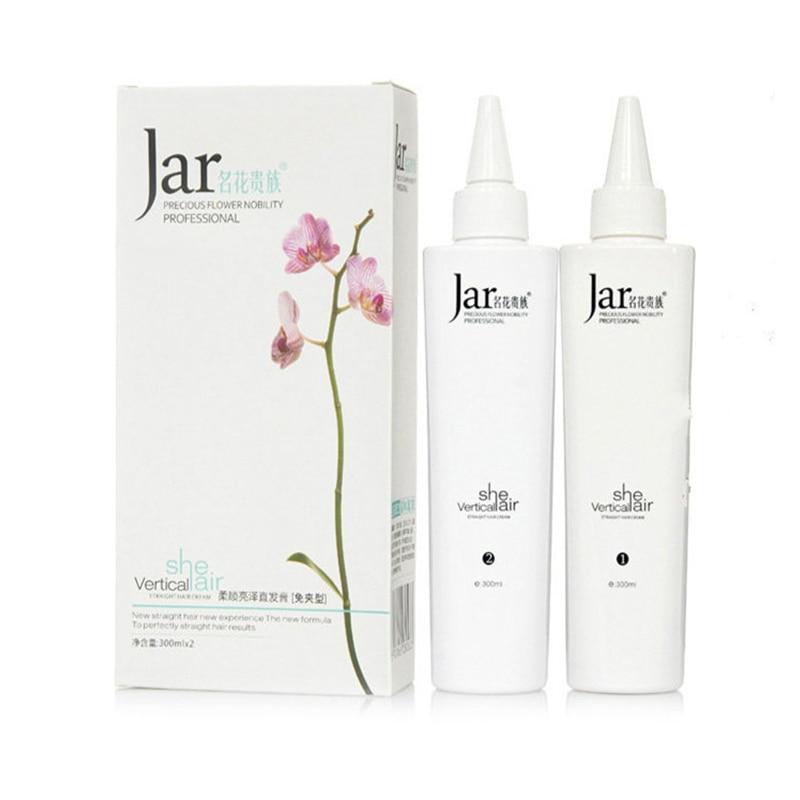 Free Folder Ionic Perm Hair Straightening Cream Free Pull A Comb Straight Hair Potion 300ml*2