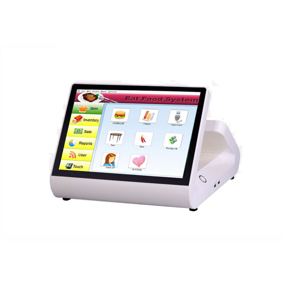 ComPOS <font><b>12</b></font> <font><b>Inch</b></font> Wide Screen Capacitive Touch Screen POS Terminal //All in one PC With Customer <font><b>Display</b></font> For Restaurant POS System image
