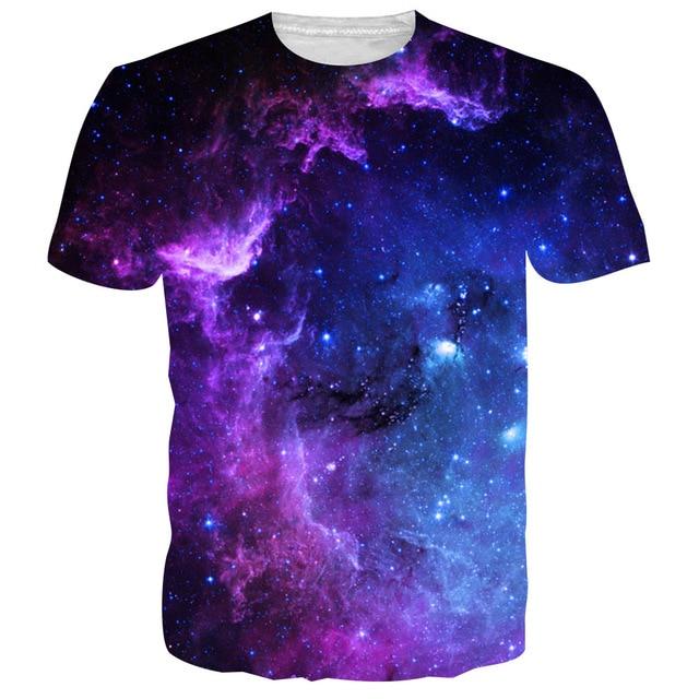 2f3568de BFUSTYLE Mens Men T Shirts Tshirt 2019 Fashion Summer Space Galaxy 3D Print  Tops Tess Camisetas