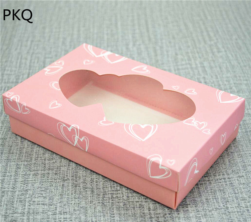 Wedding Gift Packaging: Pink Clear Window Cover Kraft Paper Gift Boxes Wedding
