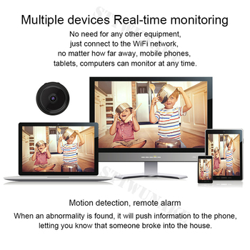 Mini wifi camera IP hd secret cam micro small 1080p wireless videcam home outdoor STTWUNAKE Protection Spy Authorized store 5