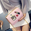 new 2016 women's single shoulder bag fashion chain small flap handbag ladies Lipstick perfume bags free shipping crossbody bag