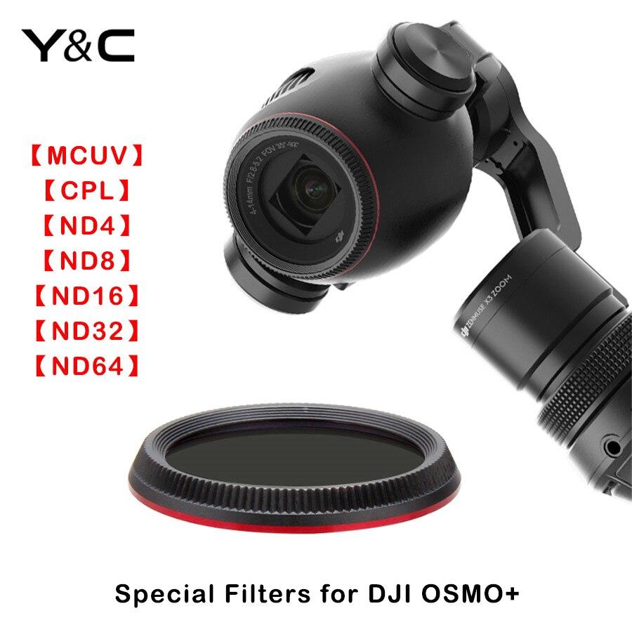 2017 neueste DJI OSMO + HD Filter MCUV CPL ND4 ND8 ND16 ND32 ND64 Objektiv-filter Für DJI OSMO + Dimmer Licht mikroskopie