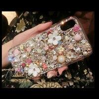 For ViVO Y53 Y67 Y69 Y71 Y81 Y83 Y85 V3 Max V5 V7 V9 X6 X7 X9 X9s X20 Plus X21 UD X21i Diamond Flower case Rhinestones Cover