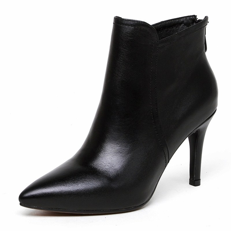 Здесь можно купить  Thin Heels Pointed Toe woman party shoes chaussure femme Fashion Boots Full Grain Leather ankle boots Cow Muscle Thin Heels Pointed Toe woman party shoes chaussure femme Fashion Boots Full Grain Leather ankle boots Cow Muscle Обувь