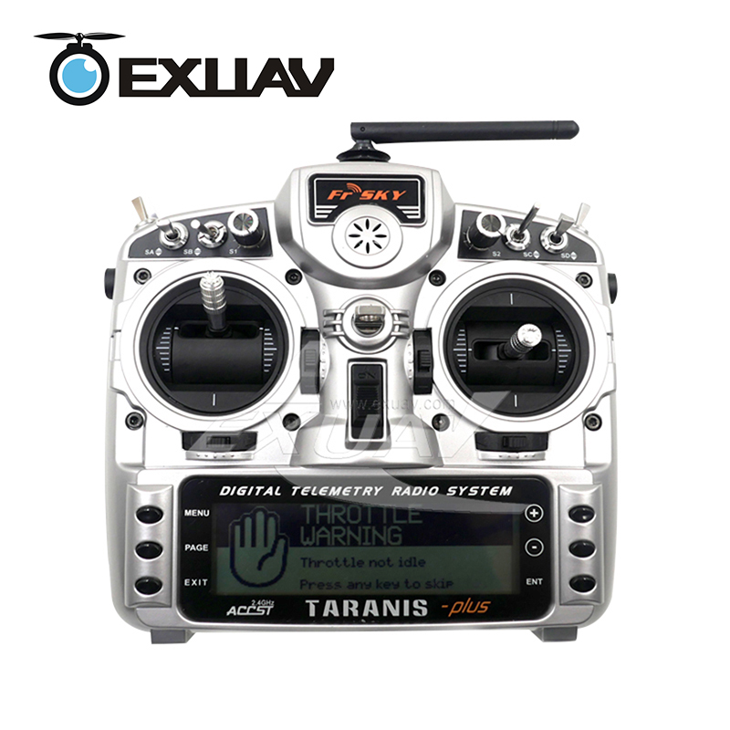 EXUAV FrSky Taranis X9D Plus 2.4G ACCST Transmitter Controller With X8R Receiver For RC Multicopter Part&Quadcopter Aluminum Box free shipping frsky 2 4ghz accst taranis x9d plus digital telemetry transmitter radio system set receiver x8r neck strap adapter