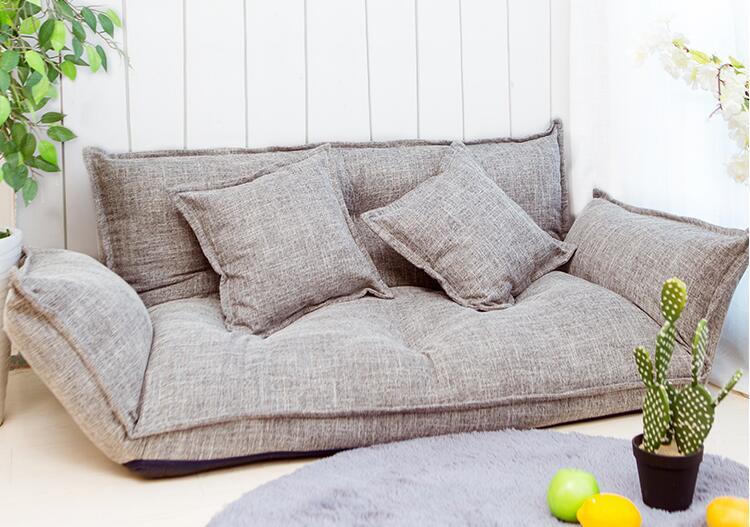 Moderne Style japonais plancher paresseux canapé canapé dos et bras 5 positions réglable pliable loisirs canapé-lit pour Viedo Gaming