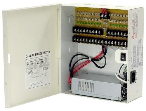 12 В DC 18ch 29 усилителей Питание коробка для камер видеонаблюдения, плавленый, включен в номенклатуру UL