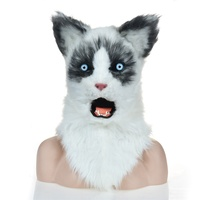 New Style real face domestic cat mask cat mask for sale
