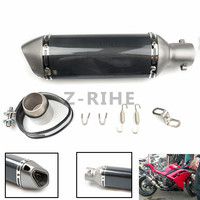 For Modified Motorcycle Parts Exhaust Universal 36 51mm Motorbike Exhaust Pipe Carbon Fiber For Ducati 620