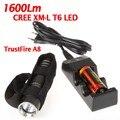 TrustFire A8 Режим Факел 5 1600 Люменов CREE XM-L T6 Высокой Мощности Факел СВЕТОДИОДНЫЙ Фонарик + 1*26650 1 * зарядное устройство