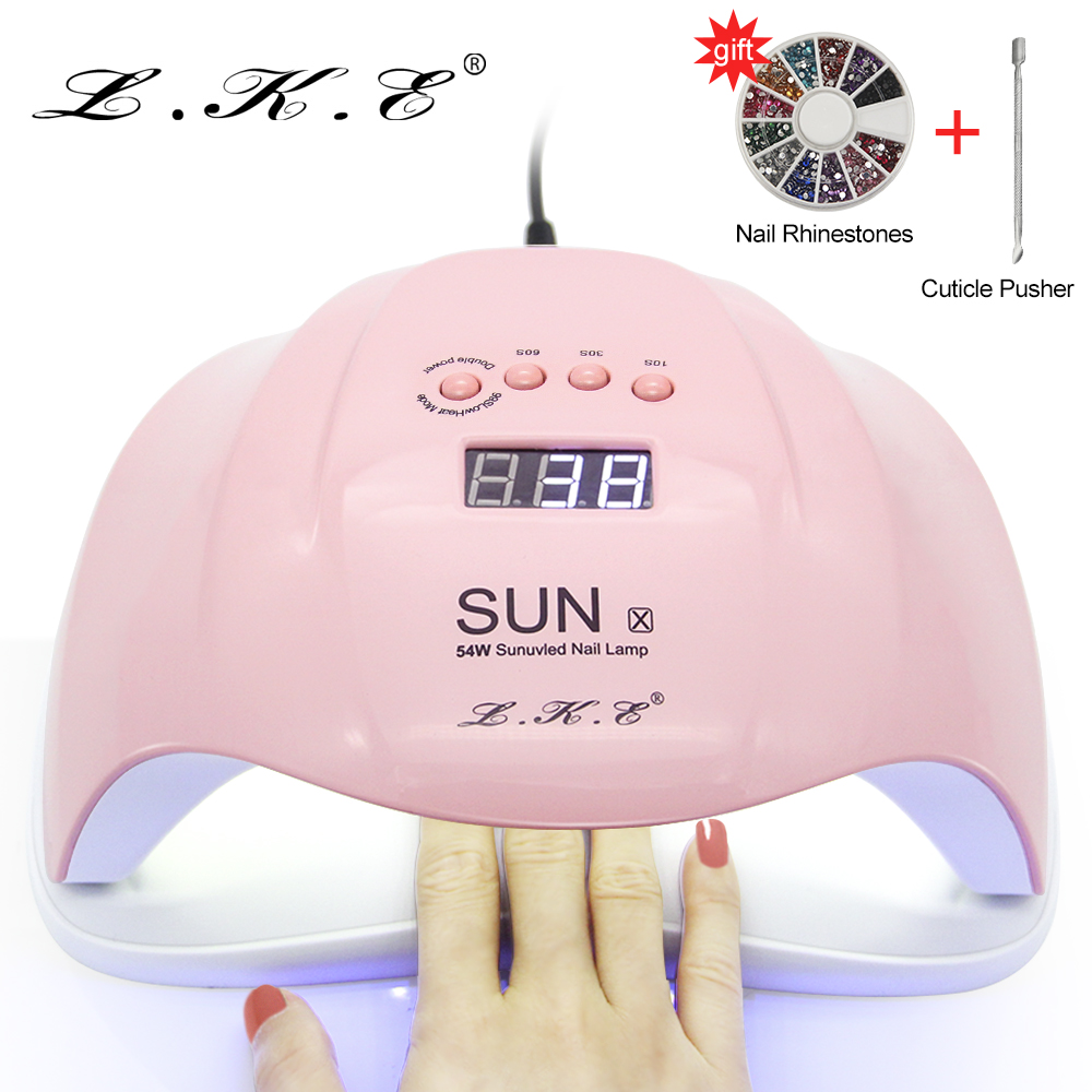Lke Nail Dryer 54w Uv Pink Nail Lamp Drying Uv Gel With