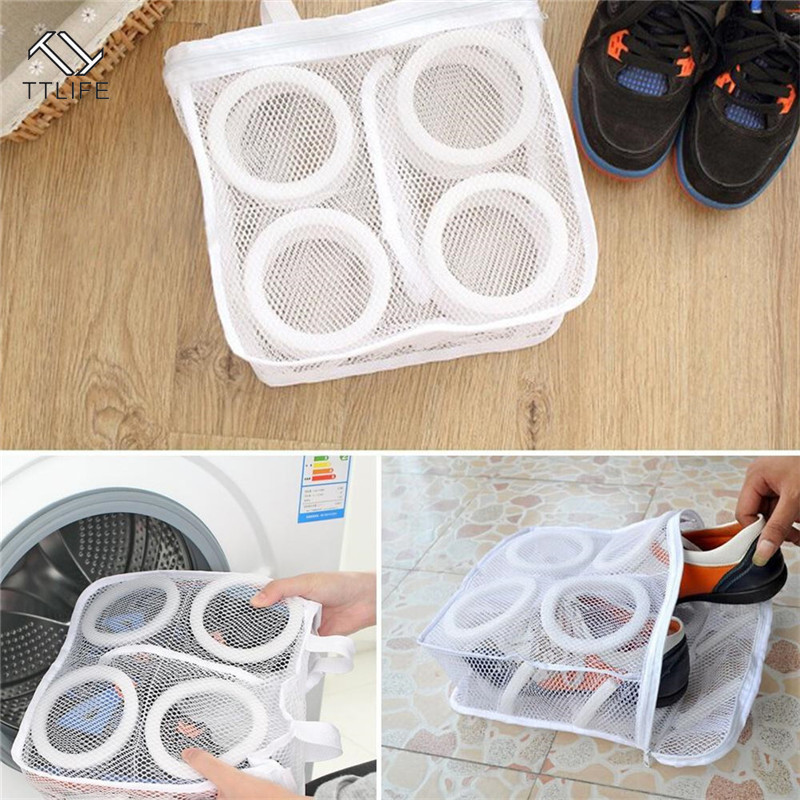 TTLIFE Fashion Storage Organizer Bags Mesh Laundry Shoes Dry Shoe Portable Washing Pouch 2019 New