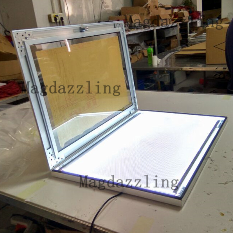 2PCS Outdoor Black Aluminum Frame LED Illuminated Menu Light Box A2 ...