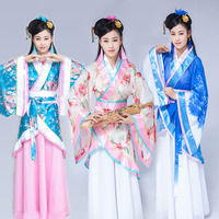 DJGRSTER 5 Color 2019 Autumn Girl Chinese Ancient Costume Hanfu Dresses Traditional Women Stage Dance Costumes Han Dynasty dress