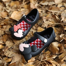 Spring Summer Breathable PVC Girls Sandals Cute Mickey Minnie Style Girls Jelly Casual Shoes CS0007
