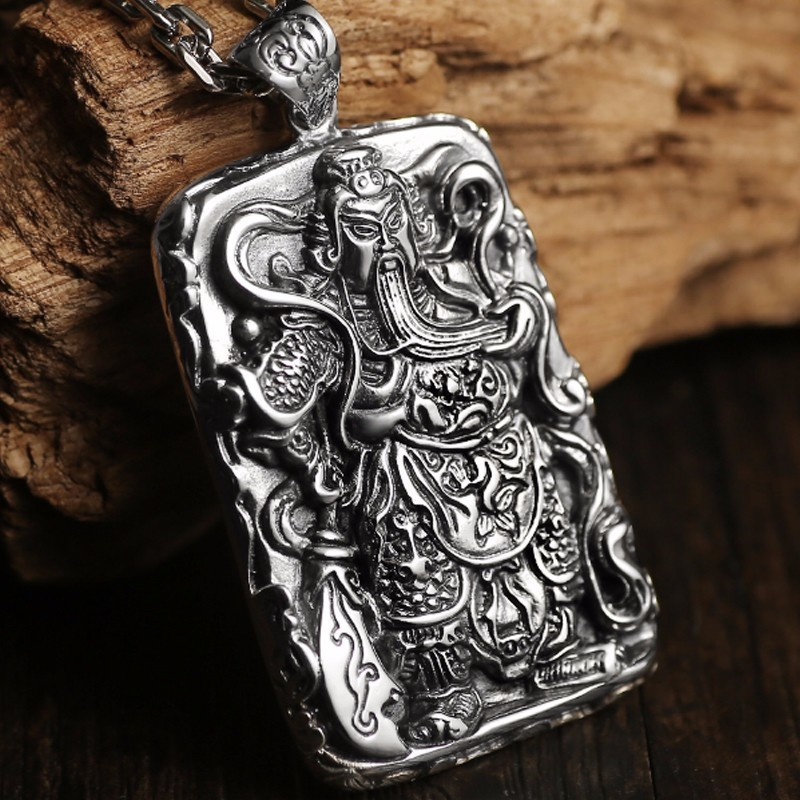 Zabra 925 sterling silver pendants for men guan yu hero good pray zabra 925 sterling silver pendants for men guan yu hero good pray necklace guys buddha pendant vintage chinese culture jewelry in pendants from jewelry mozeypictures Images