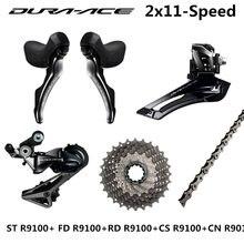 Shimano r9100 groupset DURA-ACE r9100 9000 desviadores estrada bicicleta st + fd + rd + cs + cn frente traseira desviador 11-25t 11-28t 11-30t