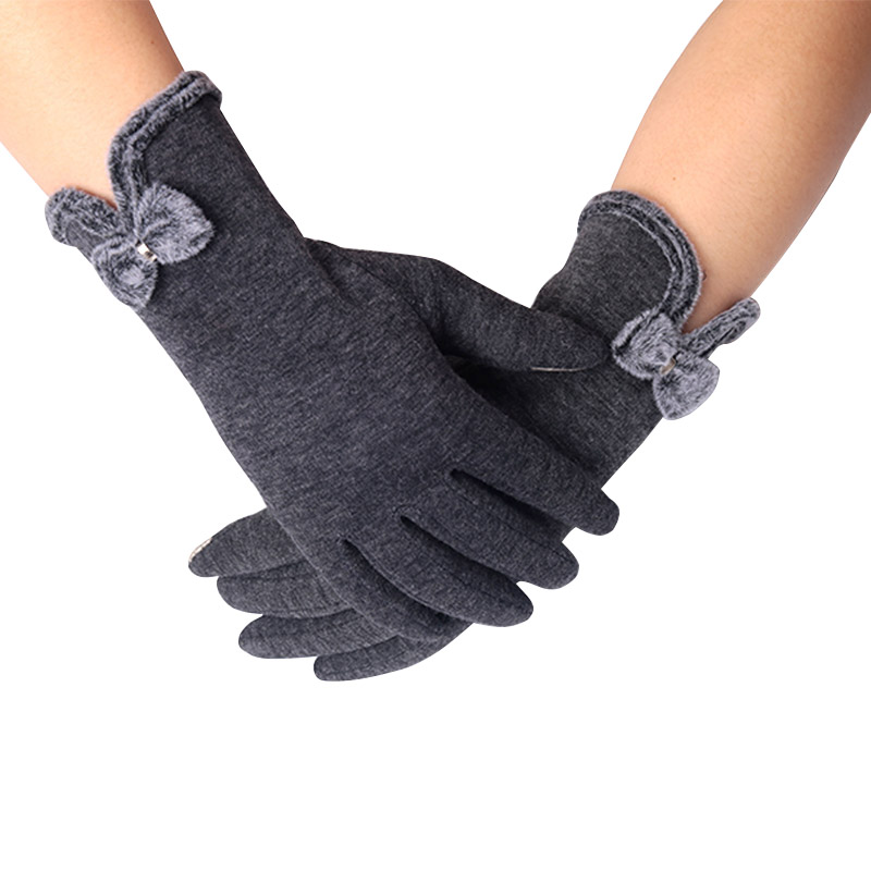 350pcs/lot New Fashion Gloves Winter for Fitness Women Guantes Mujer PhoneTouch Screen Outdoor Wrist Mittens Heated Gloves